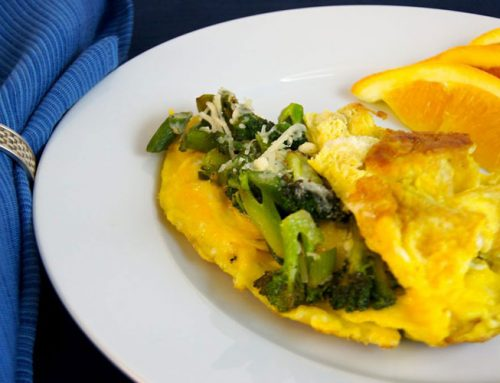 Asparagus-Broccoli Omelet