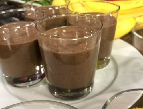 Banana Chocolate Flax Seed Smoothie