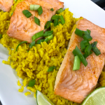 broiled-salmon-with-turmeric-rice