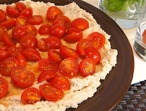 Cannellini Bean Dip with Marinated Tomatoes