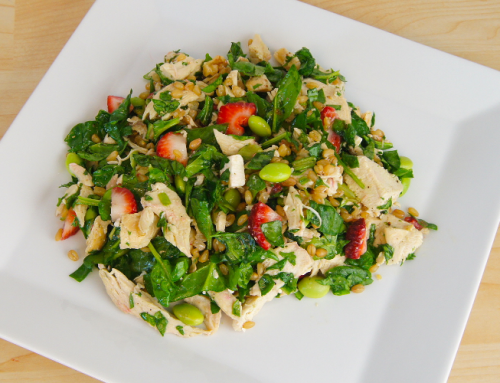 Chicken, Wheat Berry and Strawberry Salad