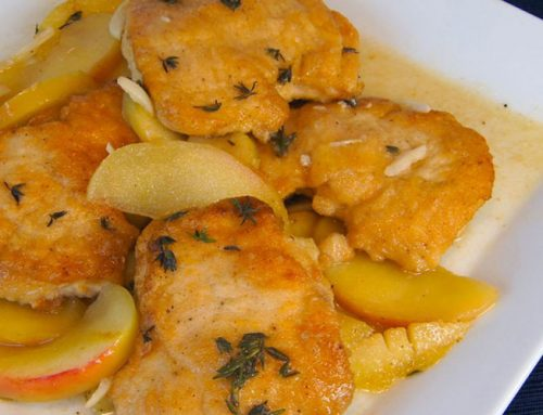 Braised Chicken Breasts with Apples