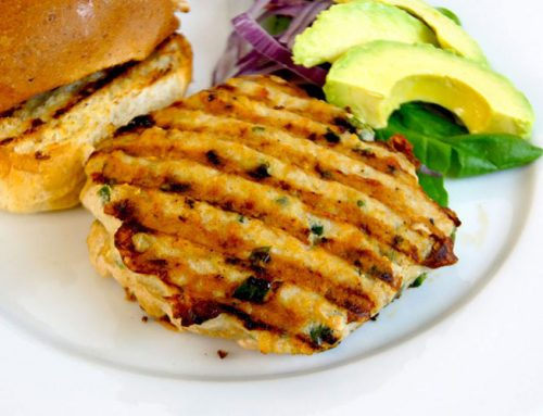 Poblano Pepper-Chicken Burgers