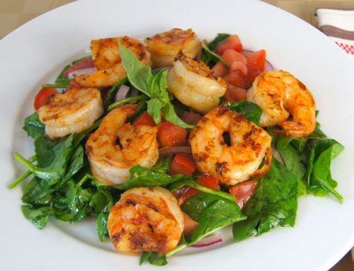 Sautéed Shrimp Spinach Salad