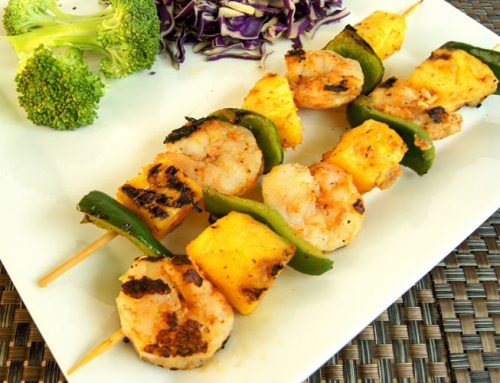 Grilled Chili Shrimp and Pineapple