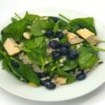 Chicken barley blueberry spinach salad