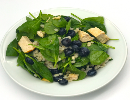 Chicken Barley Blueberry Salad with Lemon Honey Vinaigrette