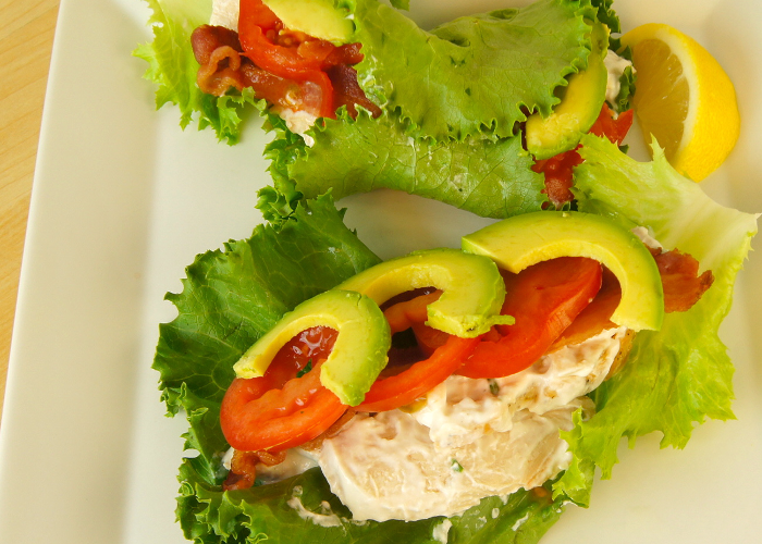 chicken BLT lettuce wrap
