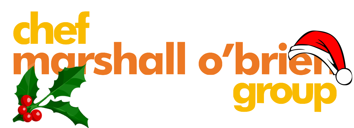 chef marshall o'brien group holiday logo