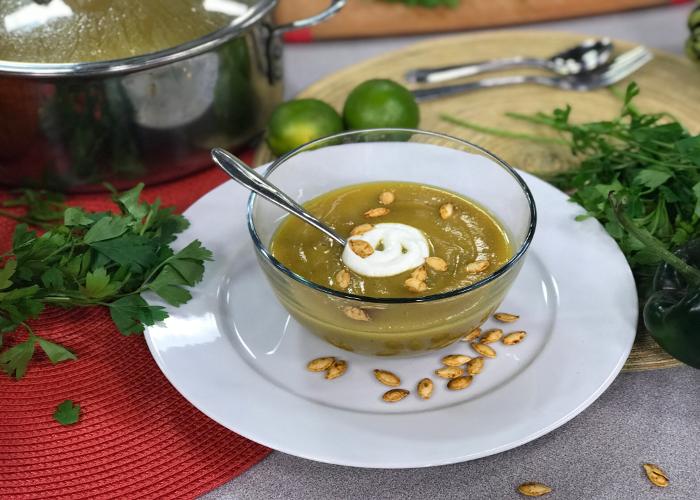 pumpkin poblano soup