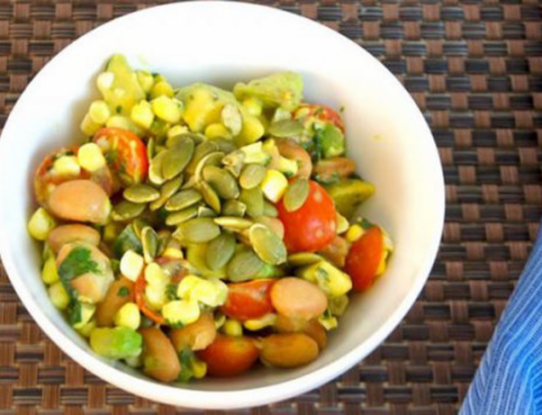 Spicy Pinto Bean, Corn and Tomato Salad
