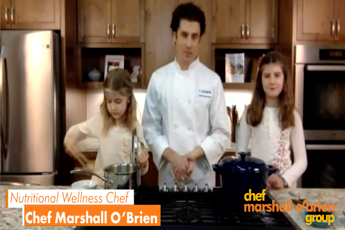 chef marshall cooking at home