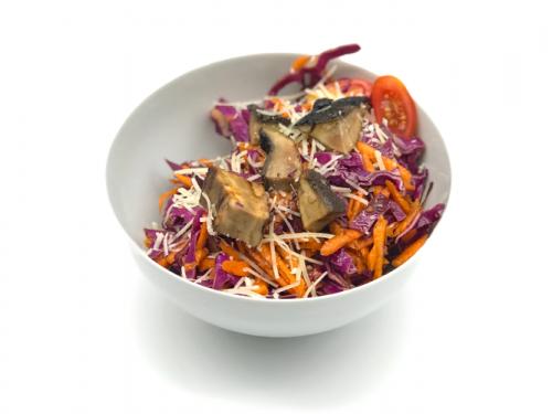 Marinated Portobello Red Cabbage Salad