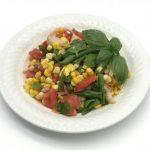 sweet corn tomato green bean salad