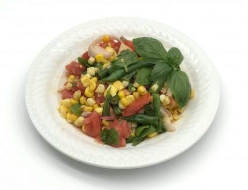 Sweet Corn, Tomato, Green Bean Salad