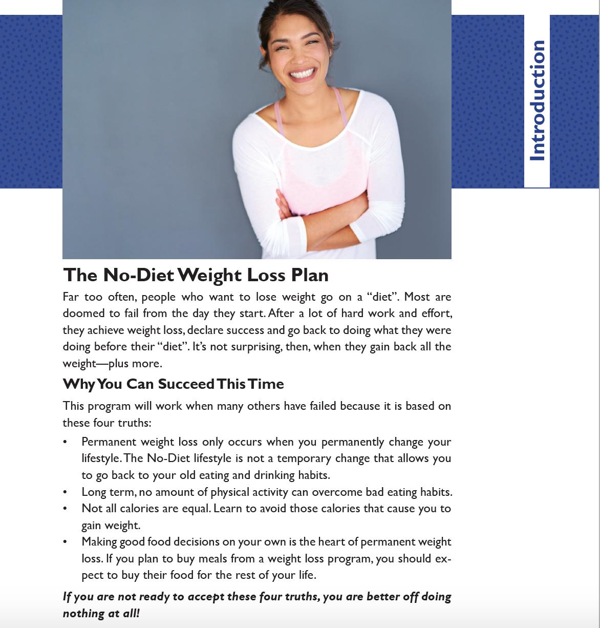 excerpt no diet weightloss workbook