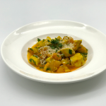 turmeric chicken with butternut squash and parmesan