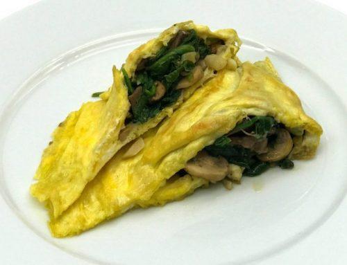 Parmesan Spinach Mushroom Omelet